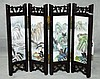 Antique four panel chinese porcelain and wood table