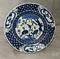 19th C Chinese blue and white porcelain plate