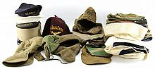 BOX LOT OF OVER 42 VARIOUS MILITARY HATS