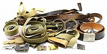 LARGE US MILITARY BELT COLLECTION