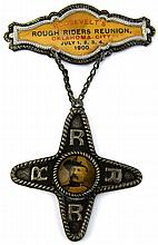 1900 OKLAHOMA CITY ROUGH RIDERS REUNION PIN