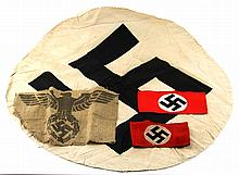 WWII GERMAN CLOTH ITEMS LOT