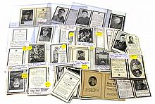 WWII GERMAN DEATH NOTICE LARGE LOT