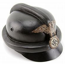 WWII GERMAN NSKK LEATHER MOTORCYCLE HELMET