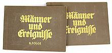 WWII GERMAN 2 ALBUM SET MANNER UND EREIGNISSE