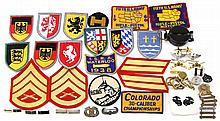 MIXED LOT MILITARY & CIVILIAN INSIGNIA AND MORE
