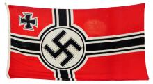 LARGE WWII GERMAN LINEN BATTLE FLAG