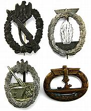 WWII GERMAN BADGE LOT OF 4