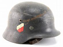 WWII GERMAN DOUBLE DECAL M35 LUFTWAFFE HELMET