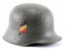 WWII GERMAN M16 TRANSITIONAL HELMET WITH M35 LINER