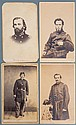 FOUR CIVIL WAR OFFICER CDV's