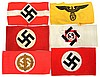 WWII GERMAN ARMBAND LOT OF SIX
