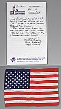 APOLLO 16, 1972, USA FLAG FLOWN TO THE LUNAR SURFACE