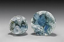 CELESTITE GEODE SPHERE PAIR