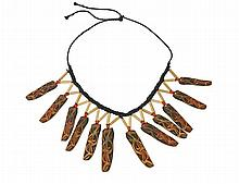 PATTERNED BEETLE WING COVER NECKLACE