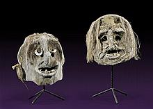 PAIR OF PAPUA NEW GUINEA MUDMEN MASKS
