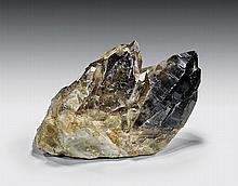 NATURAL SMOKY QUARTZ TWIN CRYSTALS