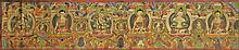 SINO-TIBETAN PAINTED THANGKA