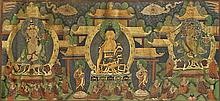 SINO-TIBETAN LEATHER THANGKA