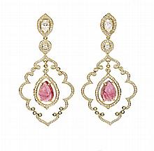 RUBY & DIAMOND CHANDELIER EARRINGS