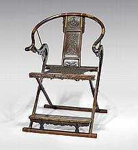 CHINESE HUANGHUALI HORSESHOE CHAIR