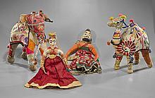 Four Old Indian Cloths: Animals & Dolls