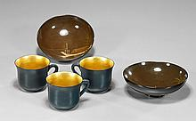 Group of 6 Various Lacquered & Porcelain Items