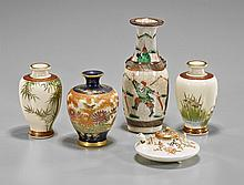 Five Small Japanese & Chinese Porcelain Vases