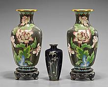 Three Japanese & Chinese Cloisonné Vases