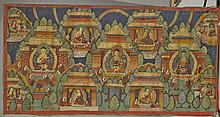 Sino-Tibetan Leather Thangka: Buddha Trinity
