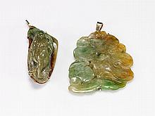 Two Chinese Carved Jade Pendants
