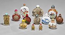 Thirteen Old & Antique Snuff Bottles