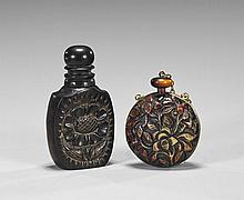 Two Unusual Carved Snuff Bottles