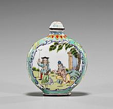Enamel on Copper Snuff Bottle: Foreigners