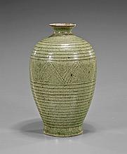 Chinese Celadon Crackle Glazed Vase