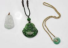 Three Chinese Carved Jade Pendants
