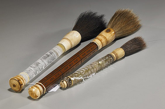 Group of 3 Various Chinese Brushes