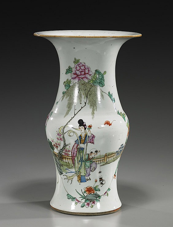 Antique Chinese Enameled Porcelain Vase