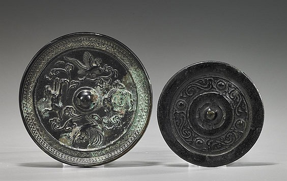 Two Various Chinese Bronze Mirrors