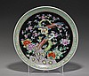 Antique Japanese Enameled Porcelain Dish