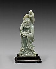 CARVED JADE LOHAN FIGURE