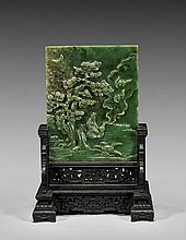 FINE SPINACH JADE TABLESCREEN