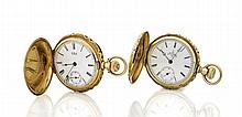 TWO ANTIQUE 14K GOLD POCKET WATCHES