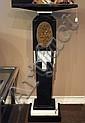 Tall Black Onyx Pedestal: Deco Style