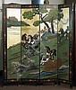 Chinese Carved Coromandel Lacquer Screen
