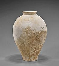 Chinese Unglazed Pottery Vase