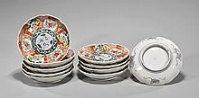 Ten Kutani-Syle Porcelain Side Dishes