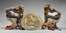 Three Well Polished Agate Stones