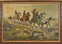 Oil Painting by J.A. Kirkpatrick: Native Americans