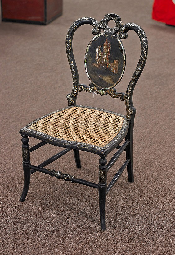 Victorian Inlaid Lacquered Child's Chair